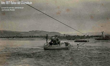 Balsa sobre el Río Chimehuín