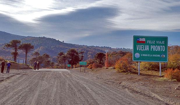 Frontera con Chile en Icalma